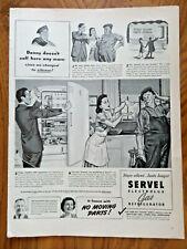 1941 Servel Electrolux Gas Refrigerator Ad Refrigerator Repairman