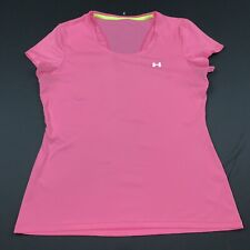 Under Armour Womens Shirt Training Gym Blouse Stretch Pink Size M