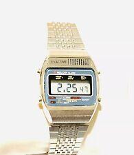 Vintage Exactime Melody Men's Lcd Alarm Chronograph Digital Wrist Watch NOS(336M