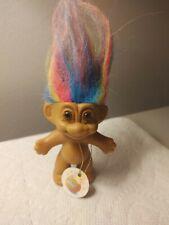 """Russ Troll Doll- Rainbow Hair- with Tag- 3"""""""
