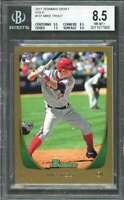 2011 bowman draft gold #101 MIKE TROUT angels rookie BGS 8.5 (9.5 8.5 7.5 9.5)