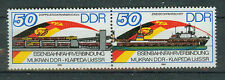 DDR Briefmarken 1986 Eisenbahnfähre Mukran- Memel Mi.Nr.3052-3053 postfrisch