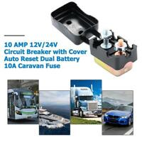 10-50AMP 12V/24V Circuit Breaker with Cover Auto Reset Dual Battery Caravan Fuse