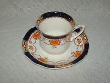 antique alfred meakin royal ivory semi porcelain cup & saucer garland  1890s