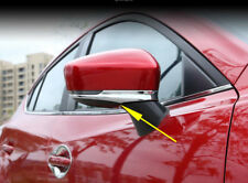Chrome Outer Side Door Rearview Mirrors Trim Cover Cup Fit for Mazda3 2017-2018