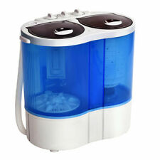 Mini Portable Washing Machine Twin Tub 16lbs Compact Washer Spin Spinner