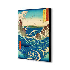 Stormy Sea At The Naruto Rapids - Canvas Wall Art Framed Print. Various Sizes