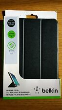 "Belkin 8"" UNIVERSAL Tablet Tri-Fold Protective Folio Case APPLE MINI IPAD BLACK"