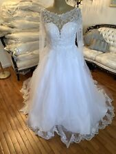 #310 Andy Anand Couture Wedding Gown Sz16 White NWT