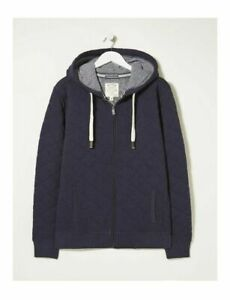 FAT FACE MENS QUILTED ZIP THRU HOODY SIZE UK SMALL NAVY BNWT