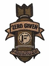 """Zero Given """"F-Bomb"""" Embroidered Tactical Morale Patch With Hook Backing"""
