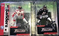 Mcfarlane NFL Deion Sanders Atlanta Falcons Black Jersey and Rare White Variant