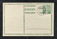 1911 Munchen Germany Postaly Stationary Illustrated Postcard Cover Bavaria