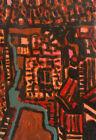 European art fauvist oil painting cityscape