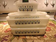 Set of 4 Fire King Anchor Hocking SWISS CHALET ALPINE  Baking Dishes