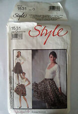 STYLE 1531 sewing pattern FULL SKIRTS  sizes 12/14/16  cut to size 16