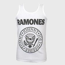 Punk Rock T-Shirt unisex white Vest Top iggy pop blondie clash sex pistols S-2Xl