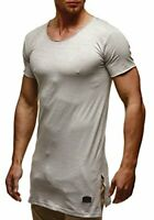 LEIF NELSON Men's Modern T-Shirt Crew Neck Shortsleeve Slim Fit Small, Gray