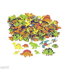 Dinosaur...100 Pack Assorted Adhesive Foam Shapes...Party Favours...Craft