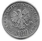 Coin 1985 Poland 100 Zlotych Y 157 Polish Women's Memorial Hospital Center UNC