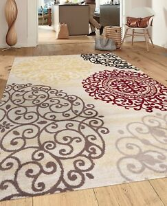 RUGSHOP CONTEMPORARY MODERN FLORAL INDOOR SOFT AREA RUGS