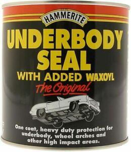 HAMMERITE UNDERBODY SEAL 500ML TIN WITH WAXOYL UNDERSEAL BRUSH ON