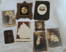 Lot of 8 Vintage Family Photographs Girl Baby Sisters Couple Old 1800s 1900s