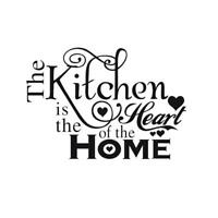 NEW Kitchen Heart Home Quote Wall Stickers Art Dining Room Decals Removable T0I3