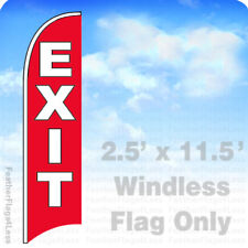 Exit - Windless Swooper Feather Flag 2.5x11.5' Sign - rb