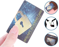 RFID Blocking Card – Contactless Credit Debit Card Protector Bank Wallet Blocker