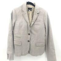 J Crew 8 Schoolboy Blazer Tan Beige Khaki Womens Jacket Two Button Career