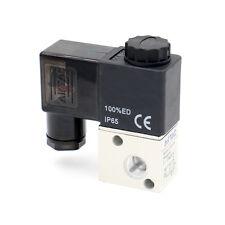 """3V1-06 2 Position 3 Wege 1/8"""" Luft gas Magnetventil Ventil 12V DC"""