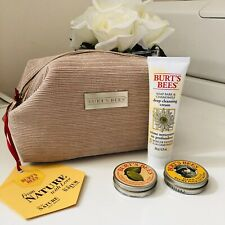 Burts Bees Cleansing Cream Cuticle Butter Hand Salve Travel Bag