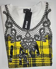Just Cavalli Shirt Kurzarm My Own Muse White     size: L   Neu