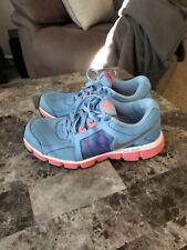 Nike Dual Fusion ST 2 Womens Running Shoes Size 9M Blue Waffle Sole-