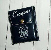 Vtg Niagara Falls Canada Crayon Pouch Leather Case Orig Crayons Honeymoon Gifts