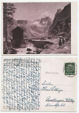 39667 - J. Alt: Der Dachstein - Künstlerkarte, gelaufen 28.6.1938