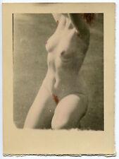 2 Photos Nus Rehaussées - 1930 -