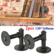 Industrial Retro Iron Wall Pipe Shelf Brackets Storage Hanging Holder Decor DIY