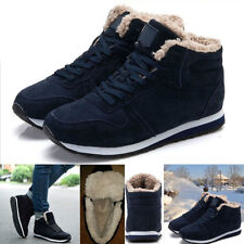 Men's Plush High Top Casual Snow Boots Man Winter Snow boots Warm Lace Up Shoes