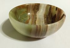 Green Onyx Bowl Natural stone dish Dish Multi Color Serving Dish Kitchen. One.