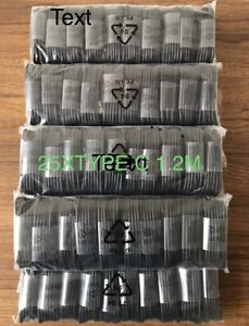 25X JOBLOT BULK WHOLESALE Type C USB-C Sync Charger Cable, Mobile phone type c