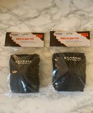 New 2 Sets of Classic Sport Knee Elbow Pads Black 1850F0Bl Size Medium Stunt