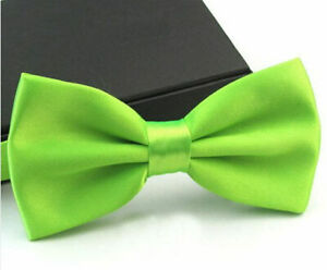 Lot 5PC/10PC/15PC/20PC Men Satin Solid Color Adjustable Wedding Bowtie Bow Tie
