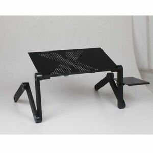 Portable Computer Desks Metal Adjustable Foldable Laptop Bed Table Vented Stand
