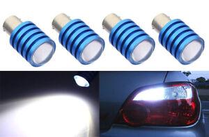 x4 pcs 1156 1093 1459 LED 7W  Super White Fit Backup Reverse Light Bulbs N12