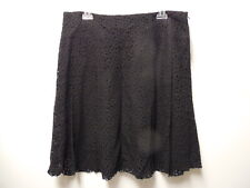 ZARA Queenie Flared Skirt ~ Black lace Sz 12 ~ Made in FRANCE ~ Orig $ 249 ~ NEW