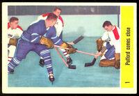 1958 59 PARKHURST #1 JACQUES PLANTE PULFORD COMES CLOSE EX CANADIENS MAPLE LEAFS