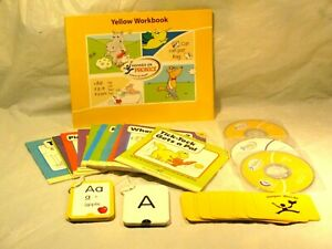 Hooked On Phonics YELLOW Level 1- Kindergarden  learn to Read 2005 complete