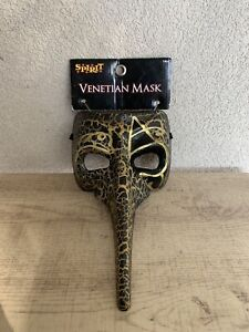 Raven Black Long Nose Venetian Halloween Party Full Face Mask Costume
